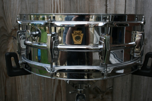 Ludwig Pre Serial Badge Chrome over Brass Super 400 Supraphonic