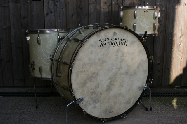 Slingerland 1930's 'Cloud Badge' RadioKing Outfit