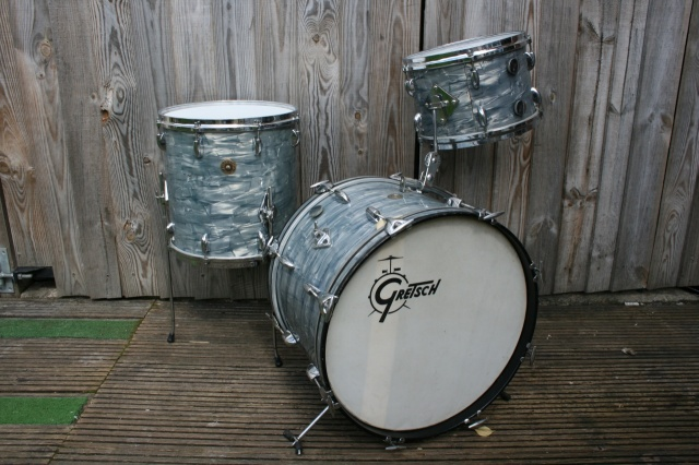 Gretsch Mid '60's Round Badge 'Progressive Jazz' Outfit in Midnight Blue Pearl