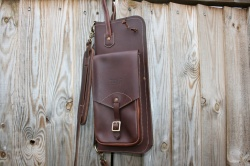 Tackle Instrument Supply Co Leather Stick Bag in Walnut