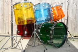 Ludwig 1970's Quadra Plus 'Jelly Bean' Vistalite Outfit