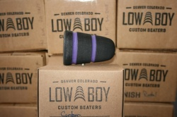 Low Boy Beaters 'Custom' Black twin Purple Stripes