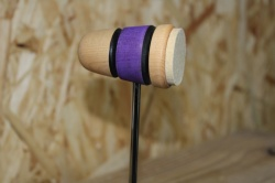 Lowboy Beaters Felt Daddy Natural Purple Natural with twin Black Stripes
