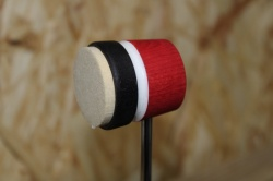 Lowboy Beaters Lightweight Felt Daddy Red Black with White Stripe