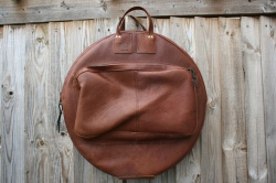 CacSac Gig Bags 24'' 'Soft' Brown Leather Cymbal Bag