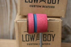 Low Boy Beaters Leather Daddy 'Light Weight' Cherry w/Blue Stripe