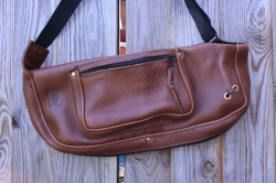 CacSac  Gig Bags Heavy Grain Brown Leather Stick Bag