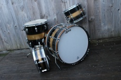 Ludwig Pre Serial Clubdate Outfit and Snare in Black Gold Duco