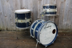 Ludwig 1970 Jazzette Clubdate Outfit in Blue Silver Duco