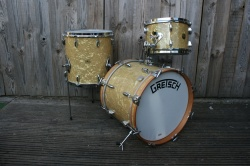 Used Gretsch Broadkaster BeBop Outfit in Antique Pearl