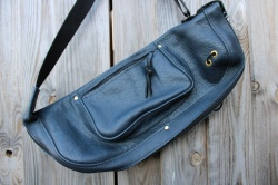 CacSac Gig Bags Stick Bag in Blue Hazy Leather
