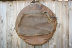 CacSac Gig Bags 24'' 'Super Distressed Mid Brown' Leather Cymbal Bag