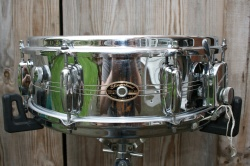 Slingerland mid '60s 'Gene Krupa Sound King' Chrome over Brass