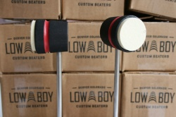 Low Boy Beaters Light Weight 'Felt Daddy' Black w/Red Stripe