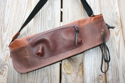 CacSac Gig Bags Streamline Stick Bag in Brown and Tan Leather