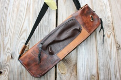 CacSac Gig Bags Streamline Stick Bag in Brown Leathers