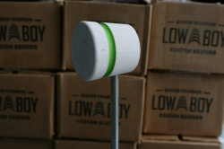 Low Boy Beaters 'Light Weight' Custom White w/Green Stripe