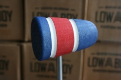 Low Boy Beaters 'Custom' Blue Red Blue twin White Stripes