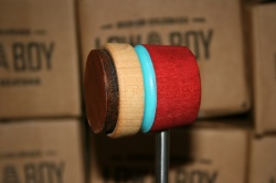 Low Boy Beaters Light Weight 'Leather Daddy' Natural Cherry w/Shock Blue Stripe