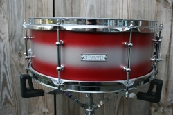 Standard Drum Co 15 x 6 Mahogany Poplar in Red Silver Duco