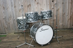 Slingerland Early '70's 'Pop' Outfit 58N in Black Diamond Pearl