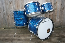Slingerland 1967 New 'Rock' Outfit in 50N in Blue Agate Pearl