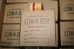 Low Boy Beaters 'Light Weight' Natural w/Red Stripe