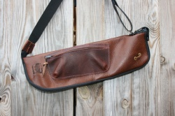 CacSac Gig Bags Streamline Stick Bag in Two Tone Brown Leathers