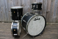 Ludwig 'Apr 1965' Clubdate Outfit and snare in Black Lacquer