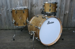 Barton Drum Co Vintage Maple 20 12 14 in Ginger Sparkle Lacquer