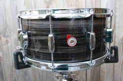 Barton Drum Co Vintage Beech Snare in Zebra Bartex