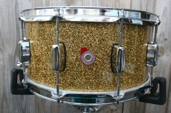 Barton Drum Co Maple Snare in Ginger Sparkle Lacquer