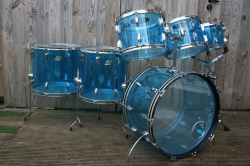 Ludwig '70's Vistalite Pro Beat Outfit in Blue