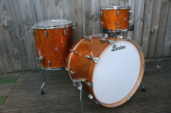 Barton Drum Co Vintage Maple 22 13 16 in Gold Sparkle Lacquer