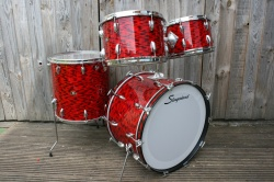 Slingerland late 60s Modern Solo Outfit in Red Tiger Pearl